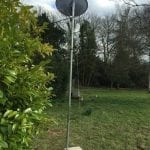 Sky Satellite Dish in garden