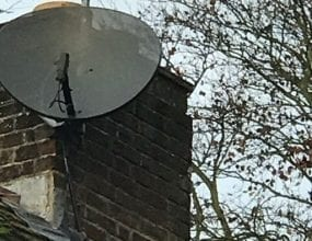 Rooftop Sky Satellite Dish