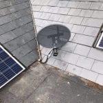 Rooftop Sky Satellite Dish
