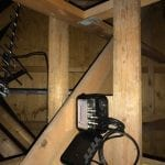 Signal booster box in loft
