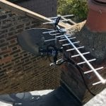 Rooftop Aerial and Satellite Dish
